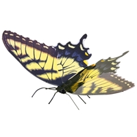 metal earth butterflies - tiger swallowtail 1