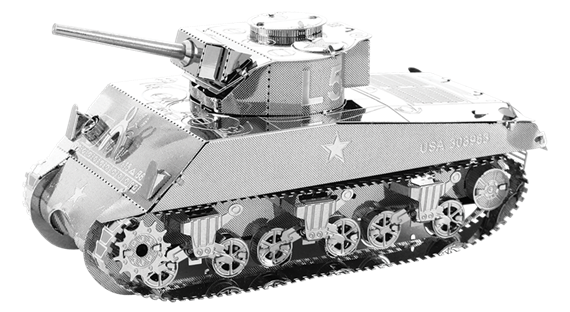 metal earth tanks - sherman tank
