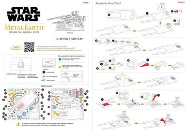 metal earth star wars - u-wing fighter instructions 1