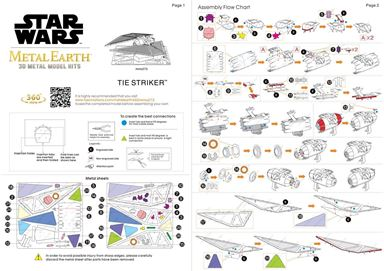 metal earth star wars - imperial tie striker instructions 1