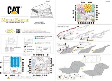 metal earth CAT mining truck instructions 1