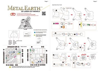 metal earth vintage movie projector instructions 1
