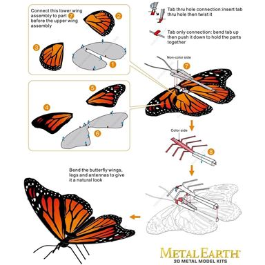 metal earth  Butterflies - monarch 2