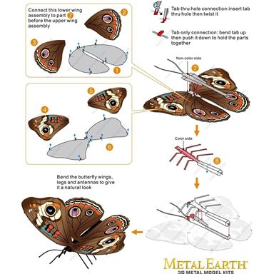 metal earthe  Butterflies - buckeye 2