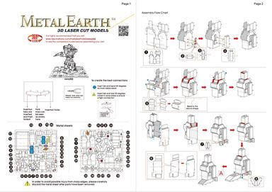 metal earth transformers - soundwave instructions 1