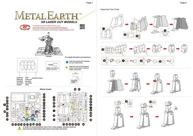 metal earth  Transformers - megatron instruction