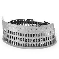 Metal Earth architecture - Roman Colosseum Ruins 3