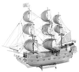 metal earth ships - iconx black pearl
