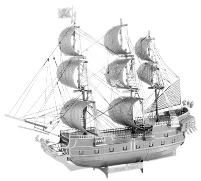 metal earth ships - iconx black pearl