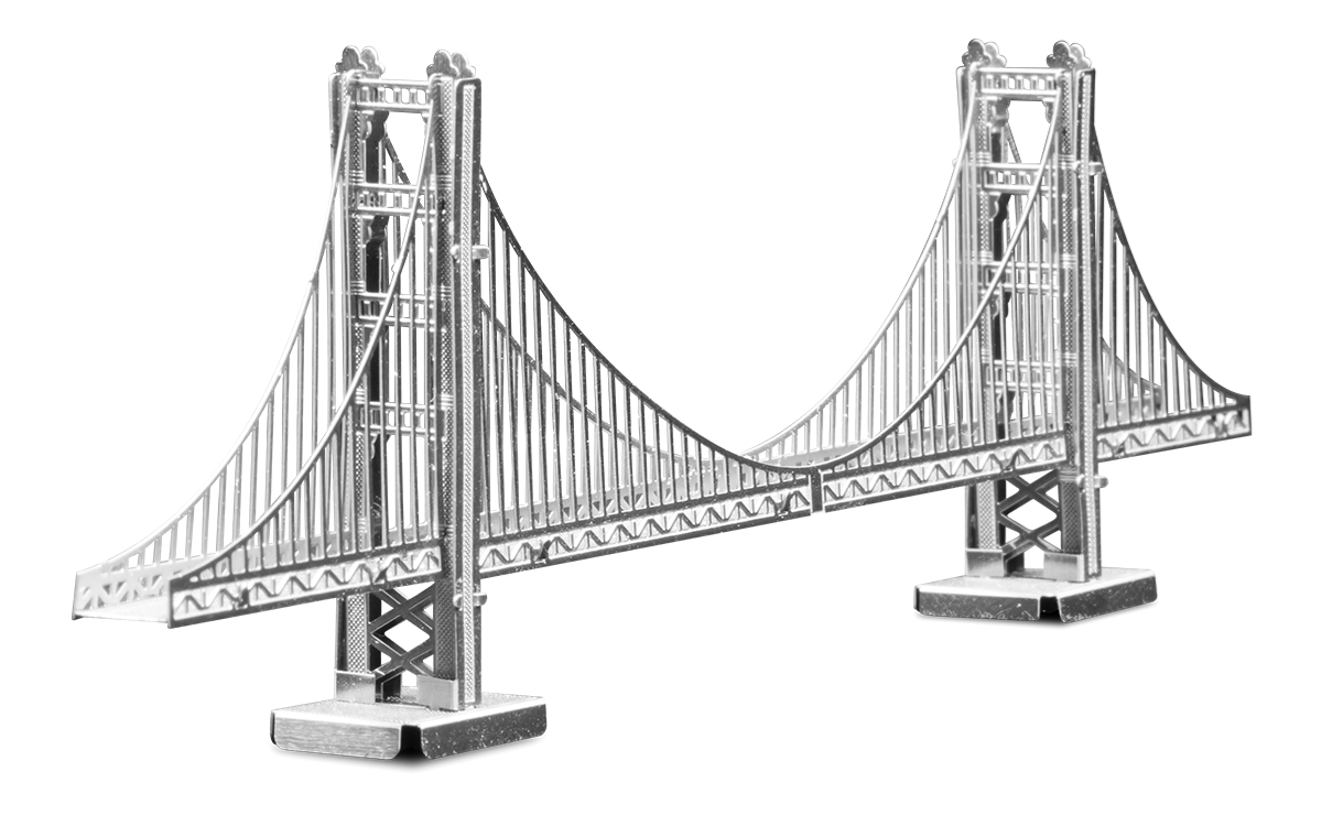 Metal Earth architecture - metal Golden gate bridge