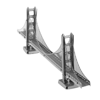 Metal Earth architecture - metal Golden gate bridge 2