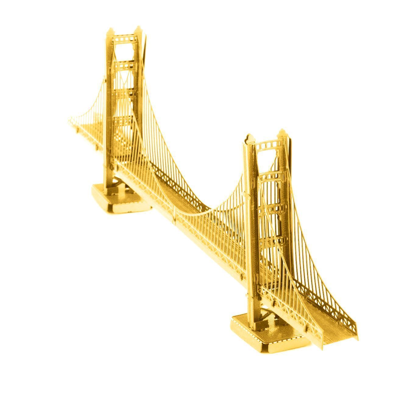 metal earth diy 3d metal model kits metal earth architecture gold golden gate bridge. Black Bedroom Furniture Sets. Home Design Ideas