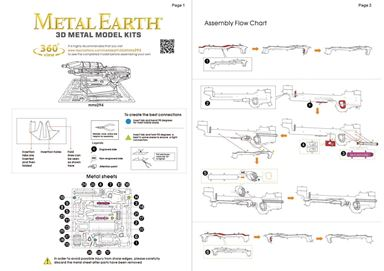 metal earth Halo - assault  rifle instruction 1