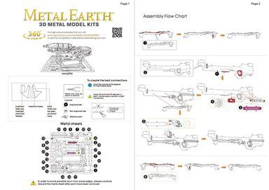 metal earth Halo - assault  rifle instruction 1