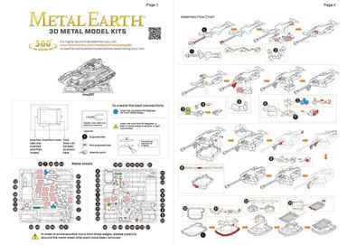 metal earth halo - unsc scorpion instructions 2