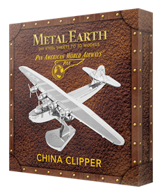 metal earth aviation - pan am china clipper - box version