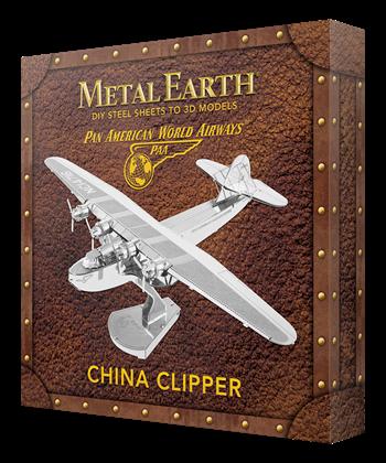 metal earth aviation - pan am china clipper - box version