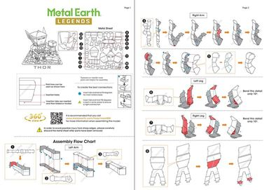 metal earth legends - instruction