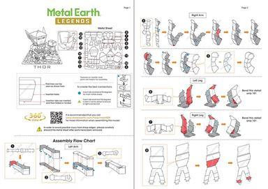 metal earth legends - instruction