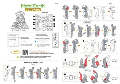 metal earth legends - spider man instructions 1