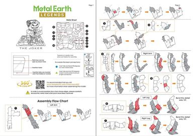 metal earth legends - the joker instruction