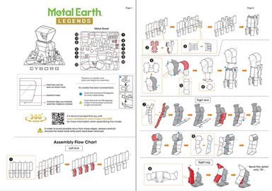 metal earth legends cyborg instructions 1