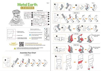 metal earth legends - superman instruction