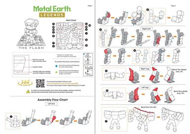 metal earth legends - the flash  instruction