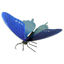 metal earth butterflies - pipevine swallowtail