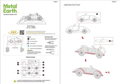 metal earth vehicles beach buggy instructions 1