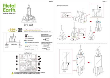 metal earth architecture chrysler building instructions 1