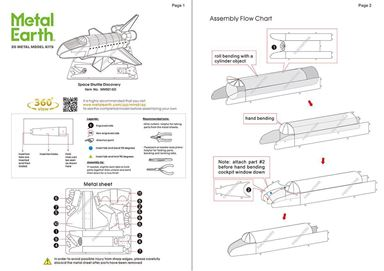 metal earth aviation - space shuttle discovery instructions 1