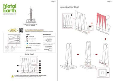 metal earth architecture - one world trade center instructions 1