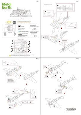 metal earthe  aviation - mitsubishi zero  instruction