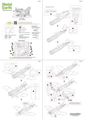 metal earth aviation F4U CORSAIR instructions