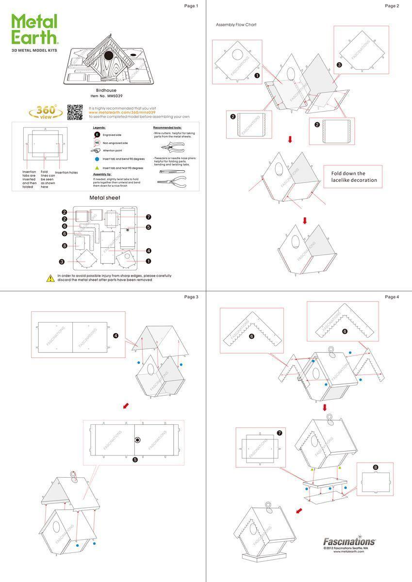 Metal earth diy 3d metal model kits metal earth miscellaneous fun to assemble ccuart Images