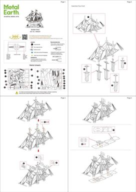 Metal Earth ships - metal golden hind instruction