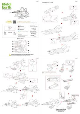 metal earth aviation f-22 raptor instructions