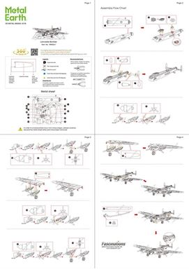 metal earth vehicles avri lancaster bomber instructions