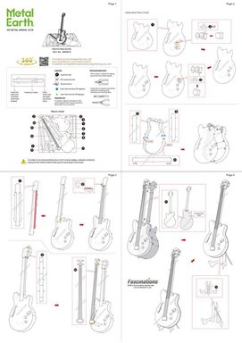 metal earth musical - electric bass guitar instruction