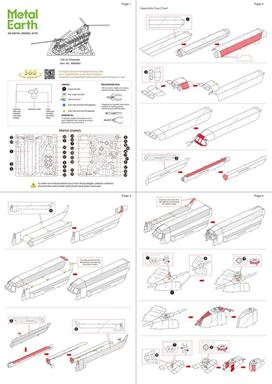 metal earth boeing CH-47 chinook instructions 1