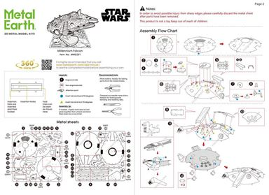 metal earth star war millennium falcon instruction 1
