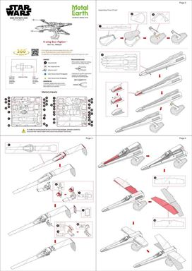 metal earth  star wars - x-wing star fighter instruction