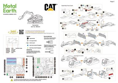 metal earth CAT excavator instructions 1