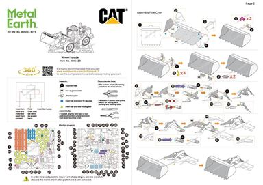 metal earth CAT wheel loader instructions 1