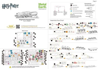 metal earth harry potter hogwarts express instructions 1