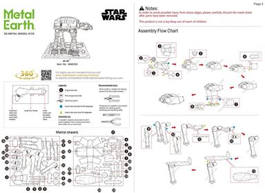metal earth  the  Star Wars  imperial at-at  instruction