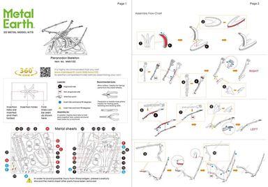 Metal Earth Dinosaurs - Pteranodon Skeleton instruction 1