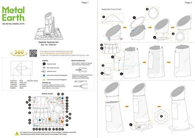 metal earth aviation - kepler spacecraft instructions 1