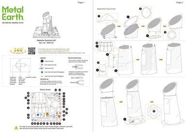 metal earth aviation - kepler spacecraft instructions 1